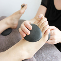 hot stone reflexology